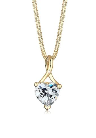 Elli Collierkettchen »Herz Infinity Zirkonia 585 Gelbgold« kaufen