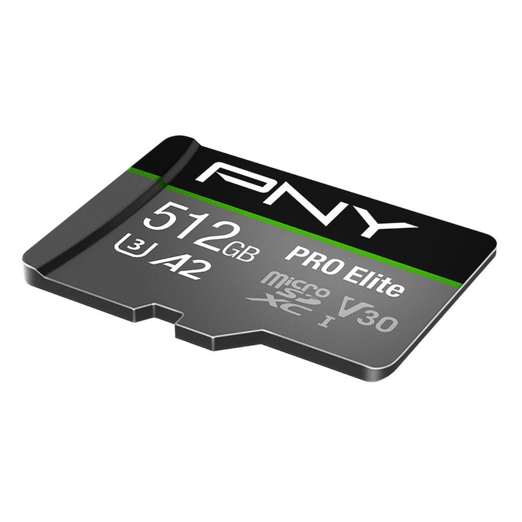 PNY Speicherkarte »microSDXC PRO Elite«, (Class 10 100 MB/s Lesegeschwindigkeit), microSD-Karte