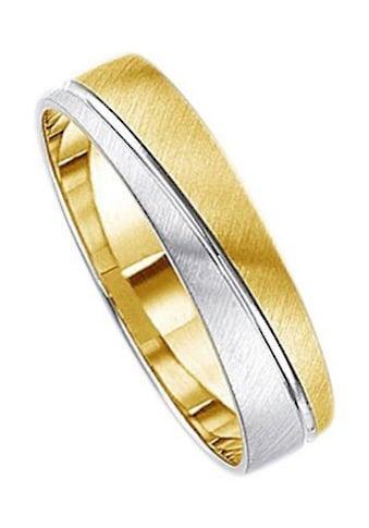 Firetti Trauring mit Gravur »quer gebürstet, Diamantschnitt, bicolor, 5,0 mm breit«,... kaufen