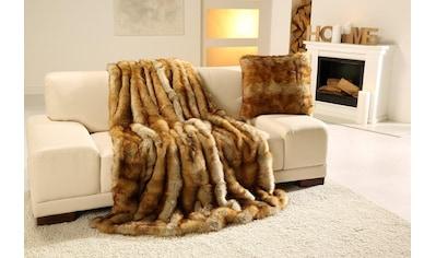 Wohndecke »Fuchs Felloptik«, Gözze kaufen