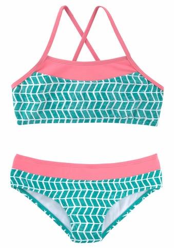 s.Oliver Beachwear Bustier-Bikini, im Colorblockingstyle kaufen
