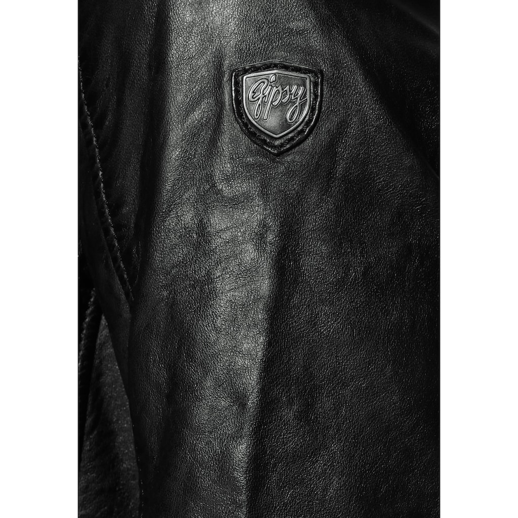 Gipsy Lederjacke »Cleeo«, stylischer hochwertiger Longblazer im Two-in-One-Look