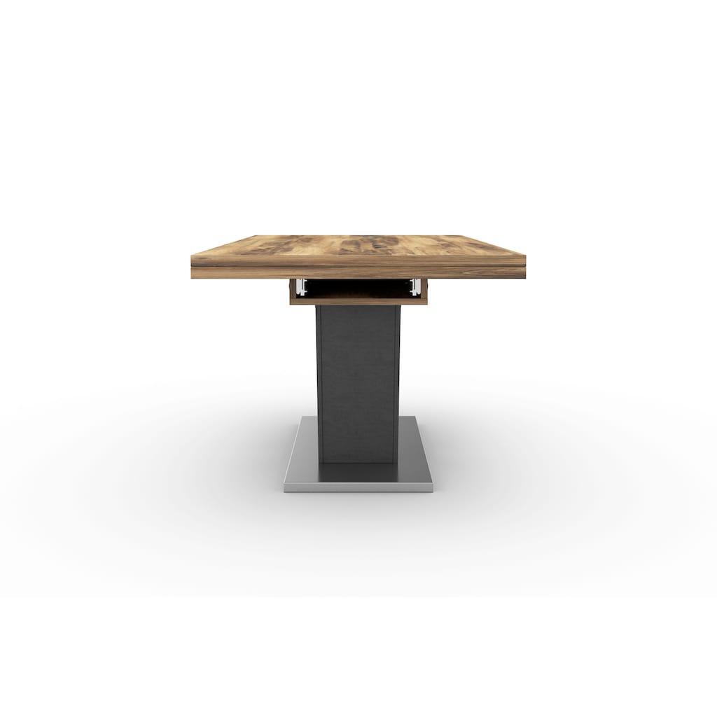Esstisch »Komfort D«, mit V-Gestell in graphit und mit Auszugsfunktion, Breite 180-280 cm