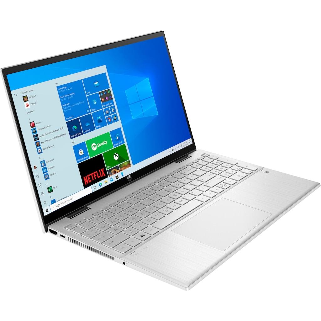 "HP Convertible Notebook »Pavilion x360 15-er0057ng«, (39,6 cm/15,6 "" Intel Core i5 Iris© Xe Graphics\r\n 1000 GB SSD), Kostenloses Upgrade auf Windows 11, sobald verfügbar"