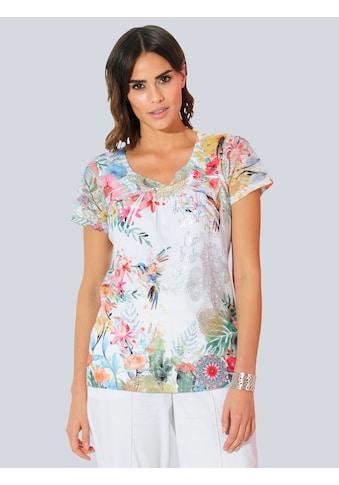 Alba Moda Kurzarmshirt, mit dekorativen Ziernieten kaufen