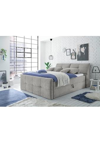 Polsterbett »Redmond«, (5 St.), inkl. Zwei Bettkästen, Stauraum im Kopfteil und Topper kaufen