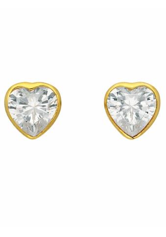 Adelia´s Paar Ohrstecker »333 Gold Ohrringe / Ohrstecker mit Zirkonia«, Goldschmuck... kaufen