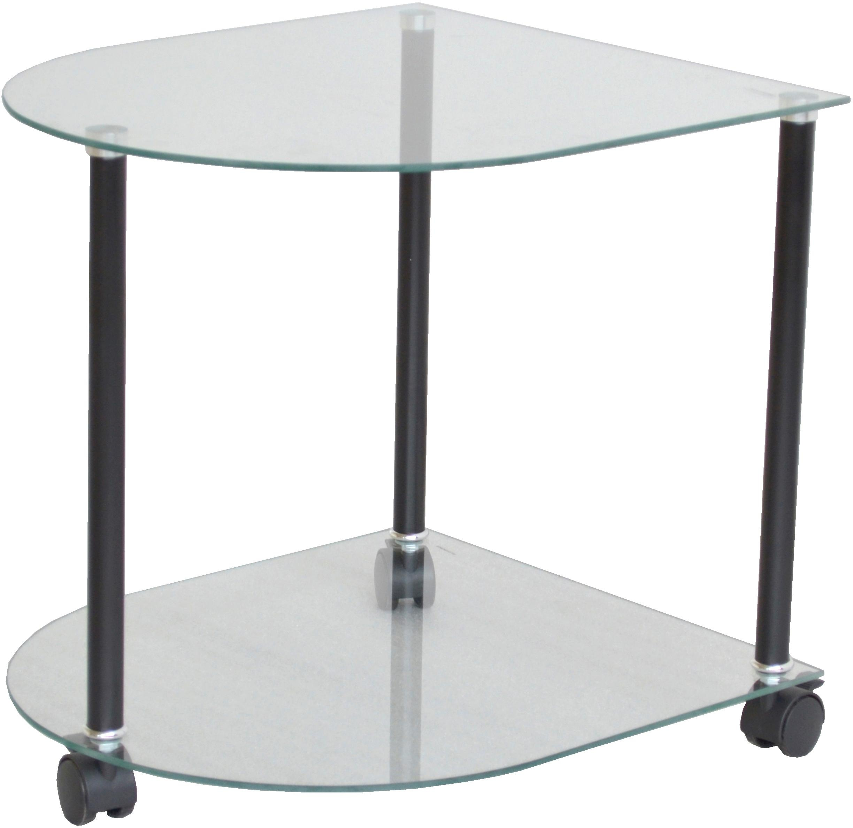Home affaire Beistelltisch, auf Rollen schwarz Beistelltische Tische Beistelltisch