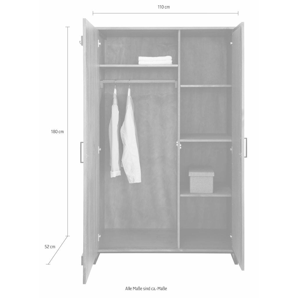 Home affaire Garderobenschrank »Santos«, mit besonderen Türfronten und 1 Spiegel, viele Stauraummöglichlkeiten, Höhe 180 cm