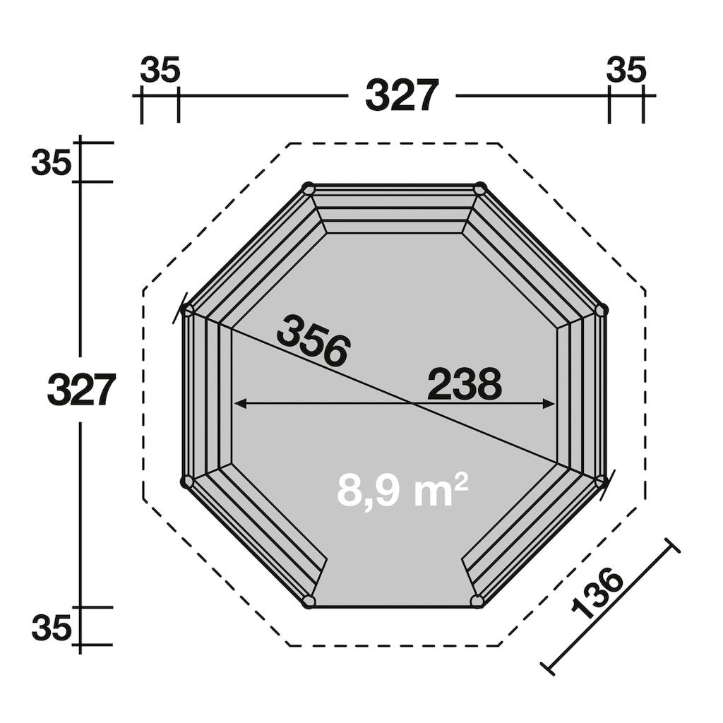 Wolff Holzpavillon »Kreta 8«, BxT: 397x397 cm