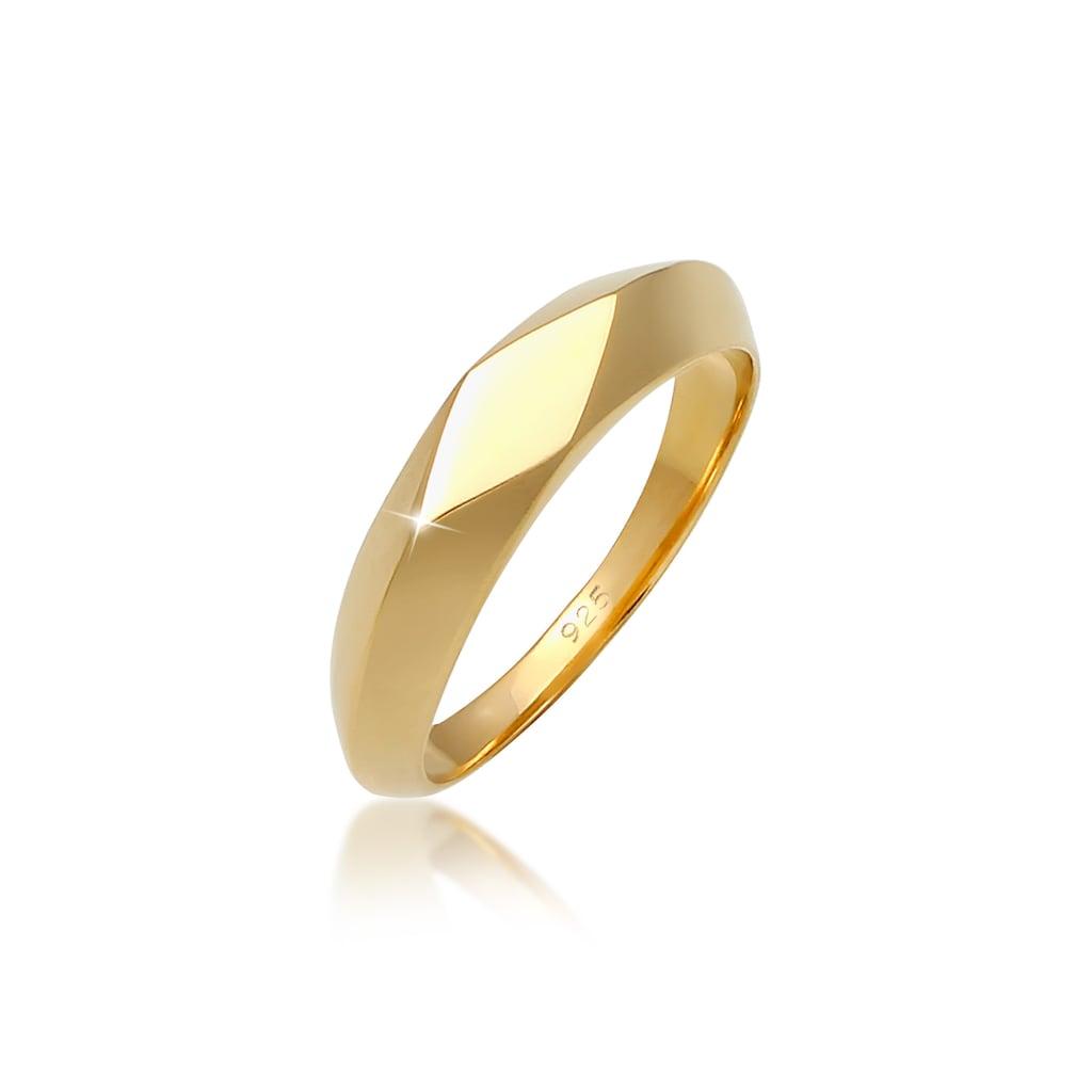 Elli Siegelring »Kleiner Siegelring Raute Pinky Ring 925 Silber«