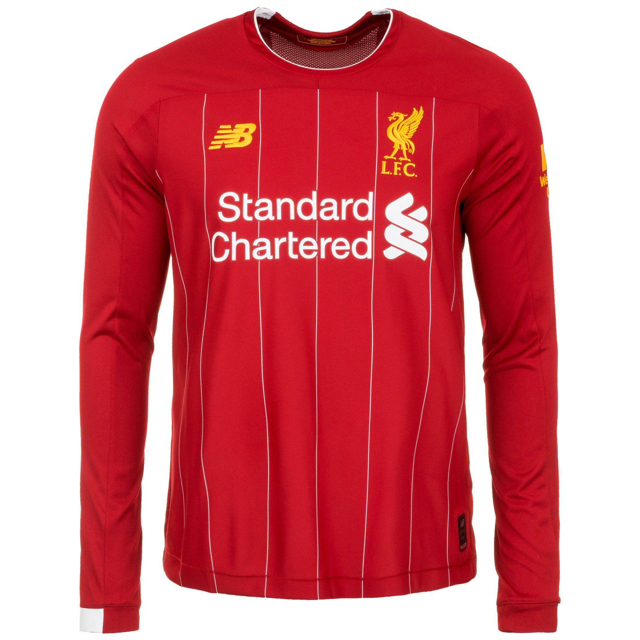 New Balance Fußballtrikot Fc Liverpool Langarm 19/20 Heim | Sportbekleidung > Trikots > Fußballtrikots | Rot | Ab | New Balance