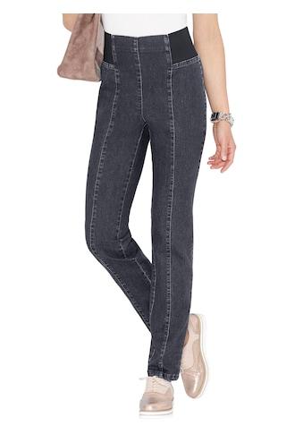 Classic Basics Jeans mit Rundum - Dehnbund bis zum Vorderteil kaufen