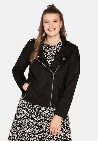 Sheego Lederimitatjacke, im Bikerstil in Velourlederoptik kaufen