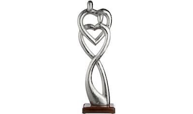GILDE Dekofigur »Skulptur Figura Verbundenheit«, Dekoobjekt, Höhe 51 cm, Herz Form,... kaufen