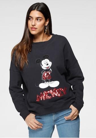 s.Oliver Sweatshirt, mit coolem Mickey Mouse Paillettenmotiv kaufen