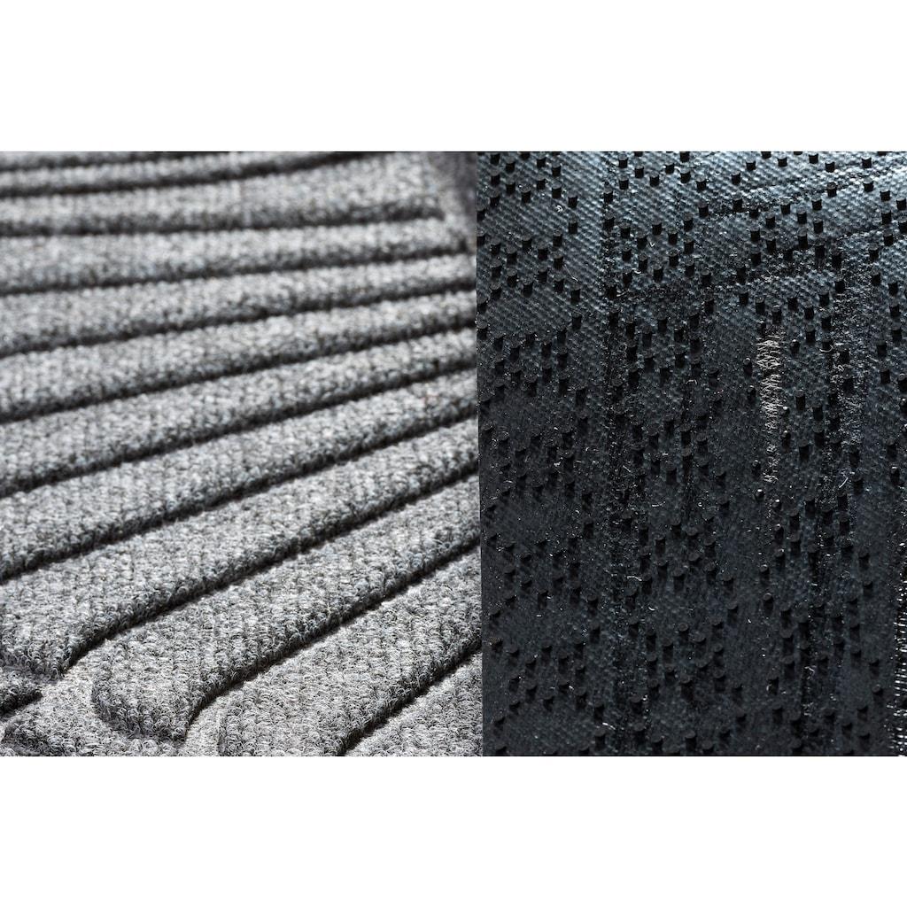 Kleen-Tex Fußmatte »Gallery Halfmoon«, halbrund, 10 mm Höhe, Fussabstreifer, Fussabtreter, Schmutzfangläufer, Schmutzfangmatte, Schmutzfangteppich, Schmutzmatte, Türmatte, Türvorleger, rutschhemmend beschichtet