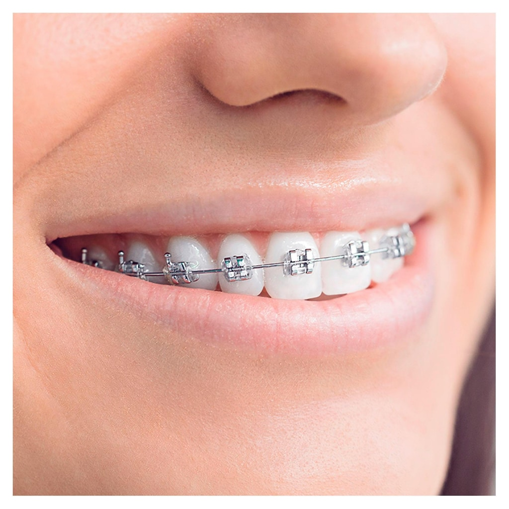 Oral B Elektrische Zahnbürste »Teen White«, 2 St. Aufsteckbürsten