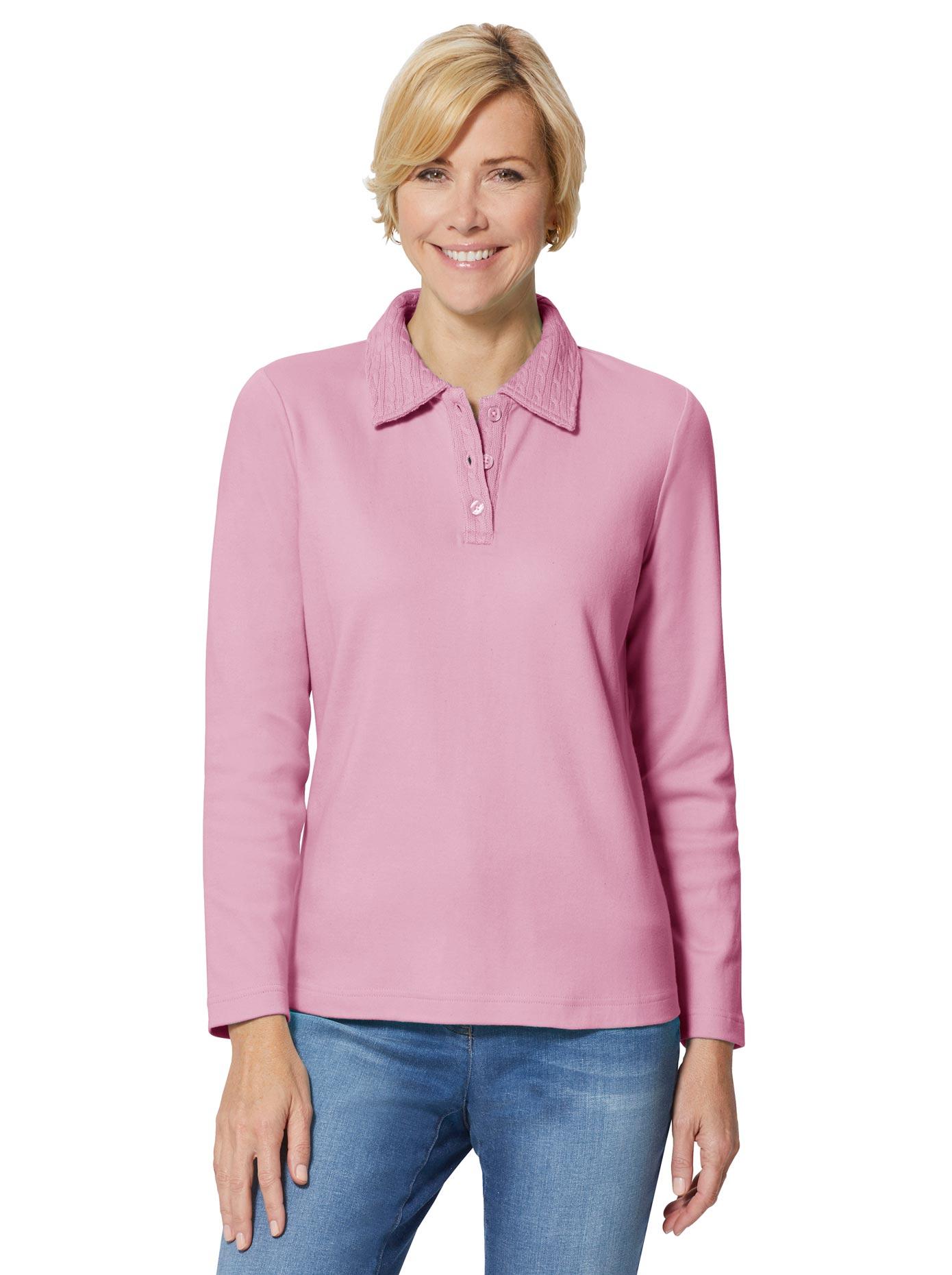 classic basics -  Winter-Shirt mit Zopf-Muster