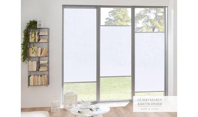 Guido Maria Kretschmer Home&Living Plissee nach Maß »Flair«, Lichtschutz, mit Bohren, verspannt, komfortables Bedienprofil wahlweise in weiß oder silber kaufen