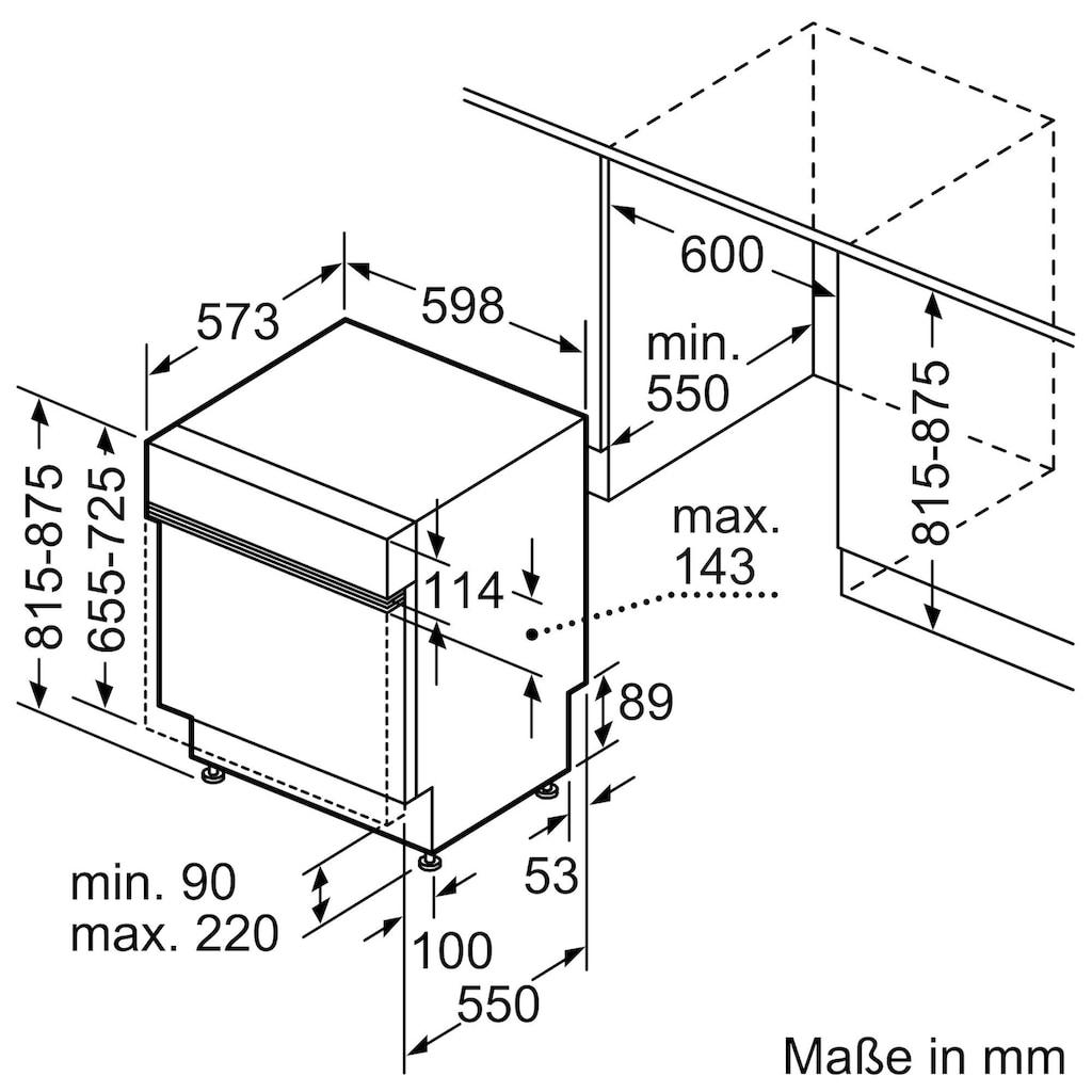 BOSCH teilintegrierbarer Geschirrspüler, SMI4HVS32E, 13 Maßgedecke