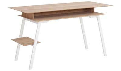 Premium collection by Home affaire Schreibtisch »Erika«, aus Massivholz, Breite 140 cm. kaufen