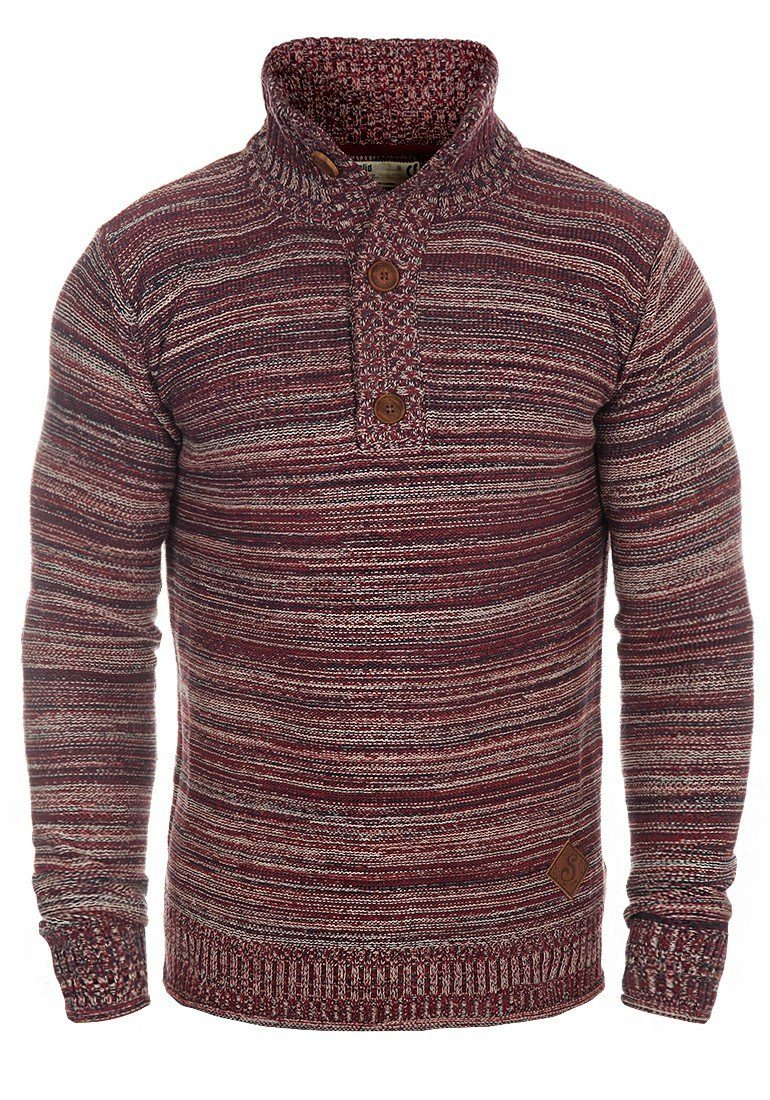 Solid Troyer Madden | Bekleidung > Pullover > Troyer | Rot | Solid