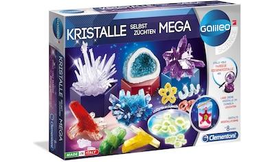 Clementoni® Experimentierkasten »Galileo - Kristalle selbst züchten Mega«, Made in Europe kaufen