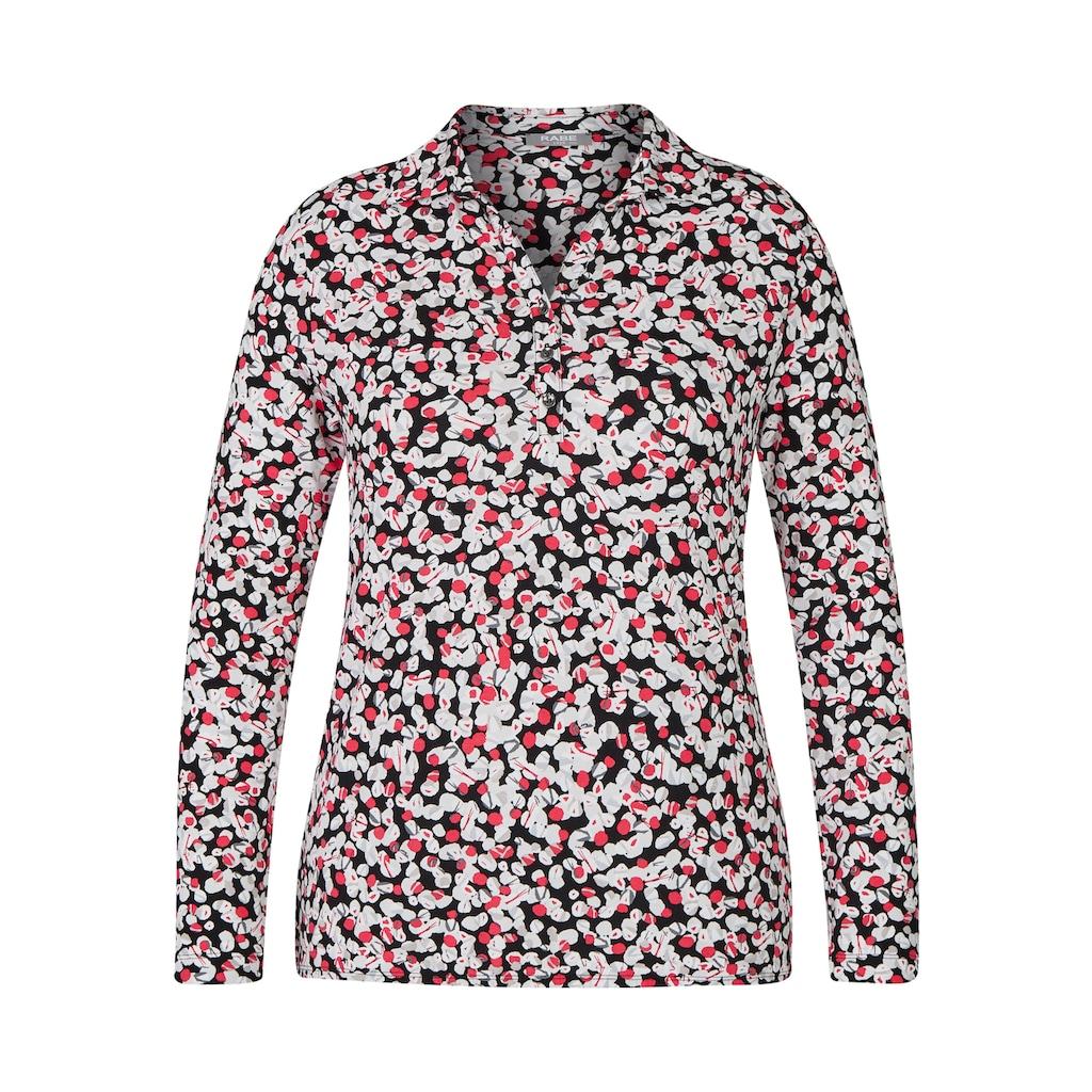 Rabe Langarmshirt, mit getupftem Allover-Muster und Knöpfen