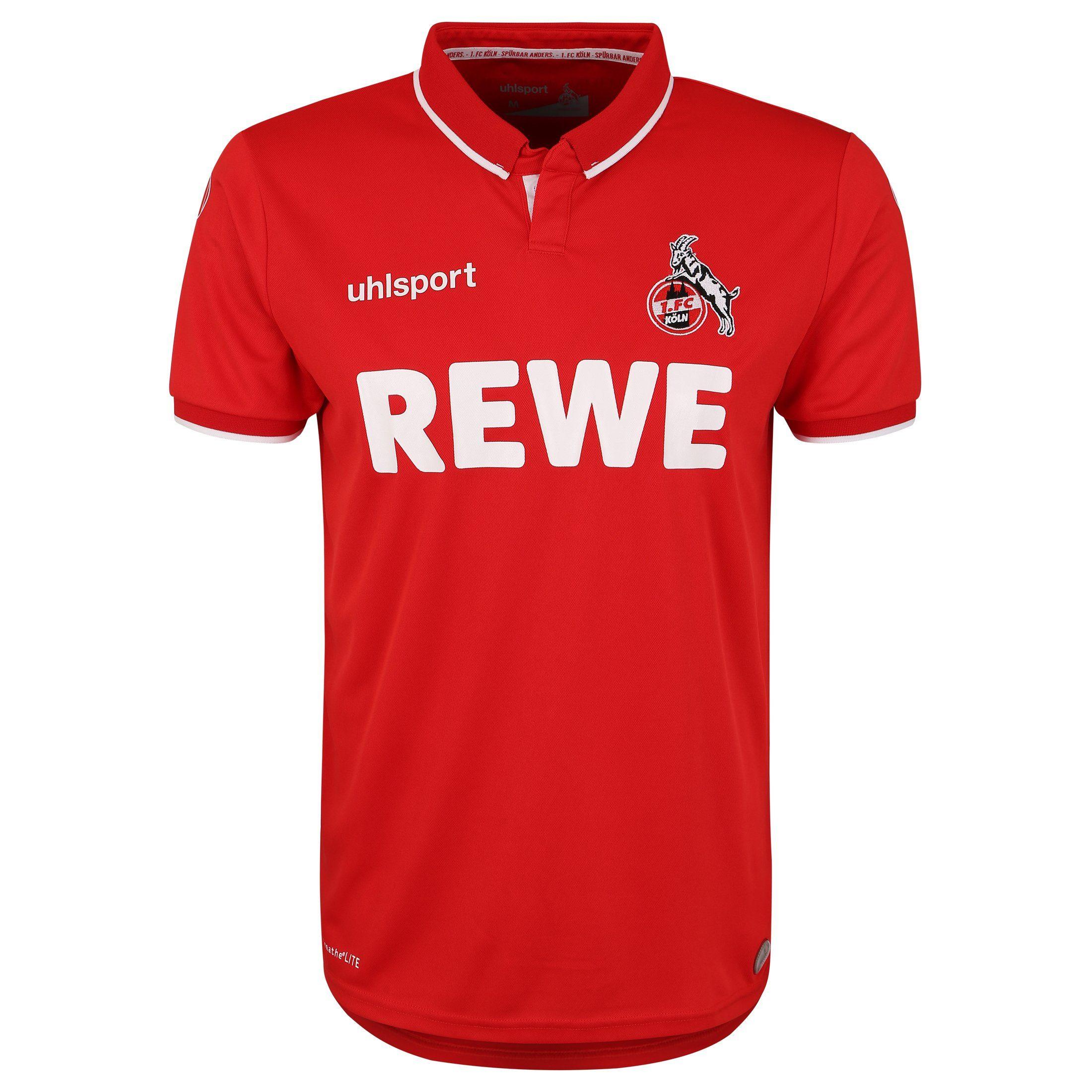 Uhlsport Fußballtrikot 1 Fc Köln 18/19 Auswärts | Sportbekleidung > Trikots > Sonstige Trikots | Rot | Uhlsport