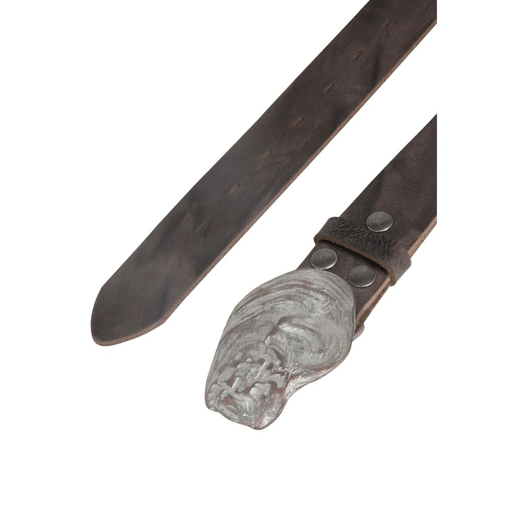 RETTUNGSRING by showroom 019° Ledergürtel, mit schicker Muschelschließe