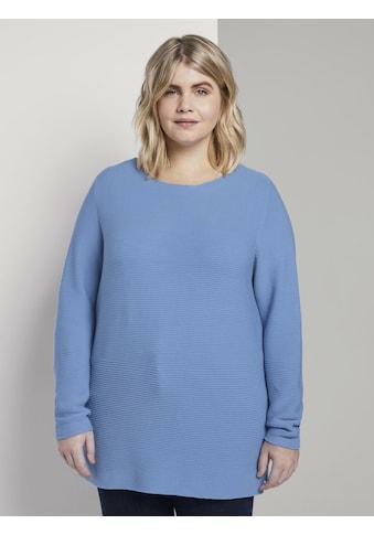 TOM TAILOR MY TRUE ME Schalkragenpullover »Weicher Ottoman Pullover« kaufen