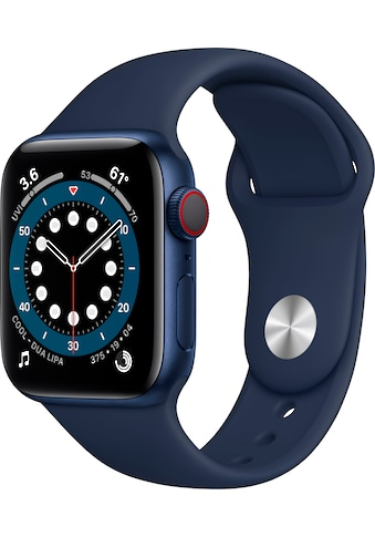 Apple Watch »Series 6 GPS + Cellular, Aluminiumgehäuse mit Sport Loop 40mm« (, Watch OS 6, inkl. Ladestation (magnetisches Ladekabel) kaufen