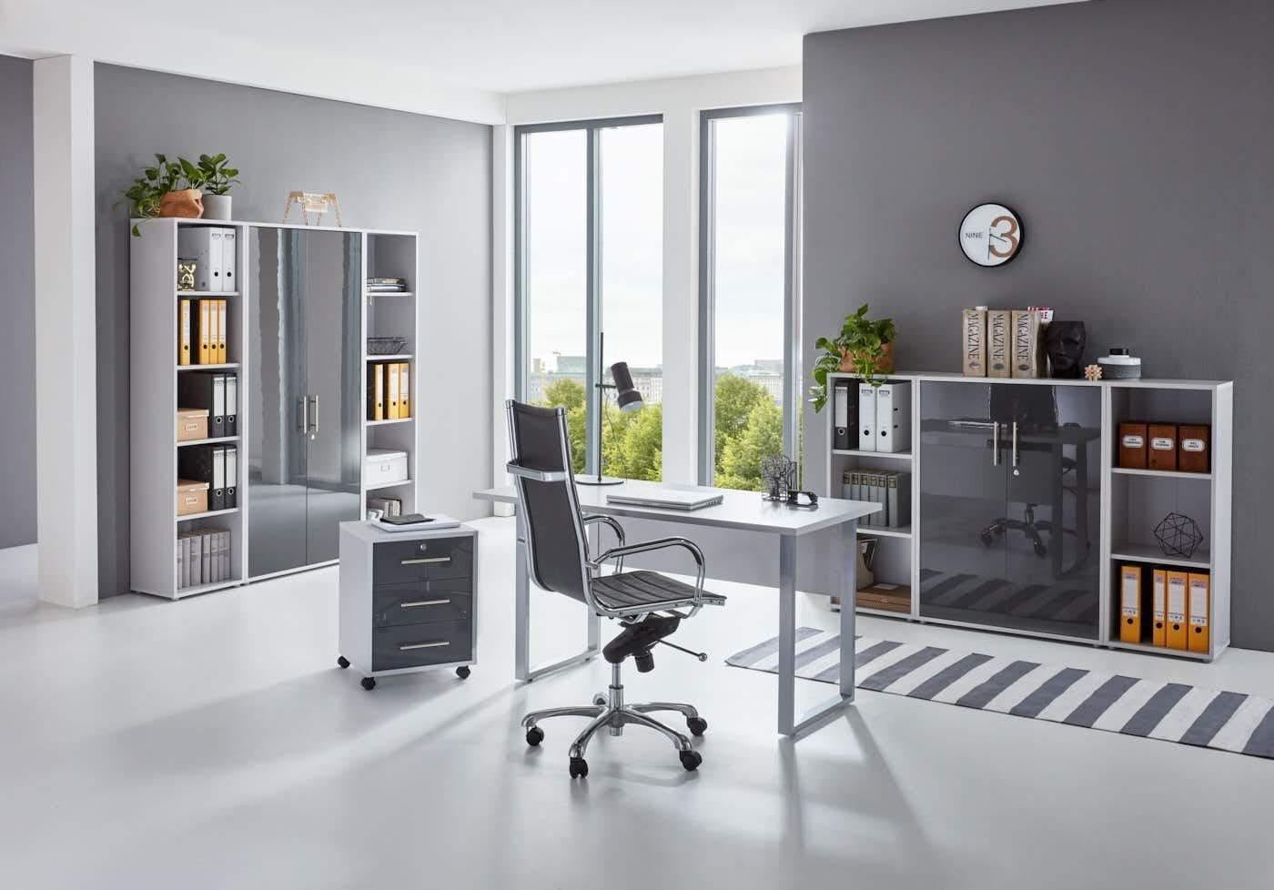 BMG Büro-Set Tabor Mini Kombi 5 grau Büromöbel