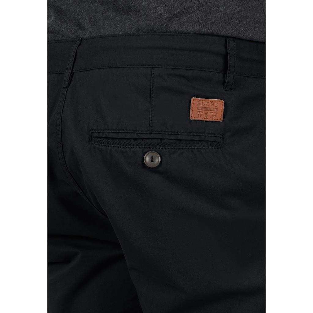 Blend Chinoshorts »Kaito«, kurze Hose mit weißen Kontrastkordeln