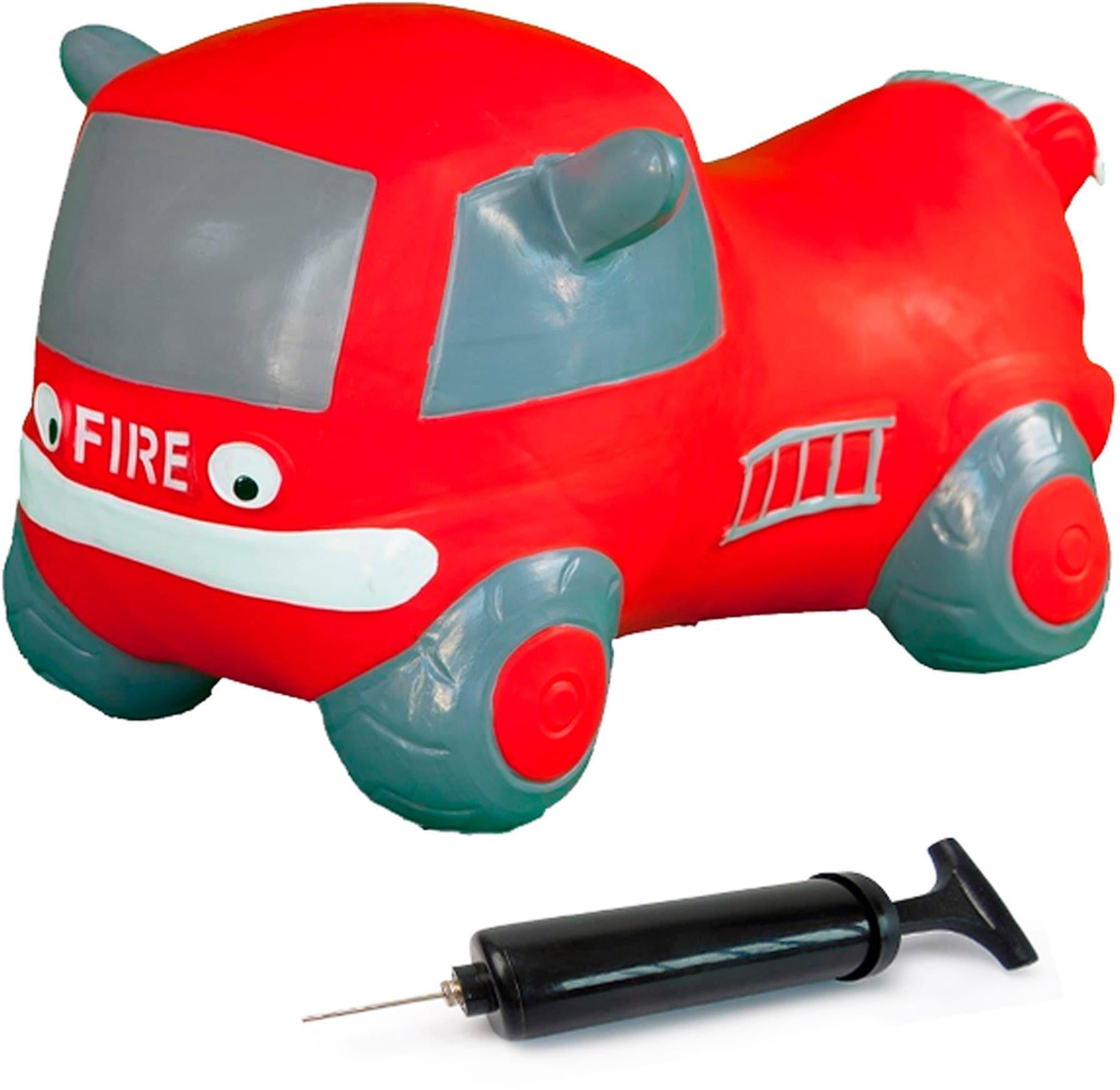 Jamara Hüpftier Fire Truck rot Kinder Schaukeln Hopser Baby Kleinkind Hüpfspielzeug