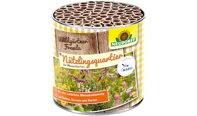 Neudorff Insektenhotel »WildgärtnerFreude«, Nützlingsquartiere für Mauerbienen kaufen