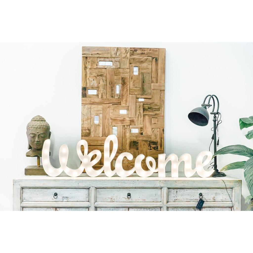 MARQUEE LIGHTS LED Dekolicht »Welcome Schriftzug«, 1 St., Warmweiß, Wandlampe, Tischlampe Welcome mit 50 festverbauten LEDs - 156cm Breit und 38cm hoch