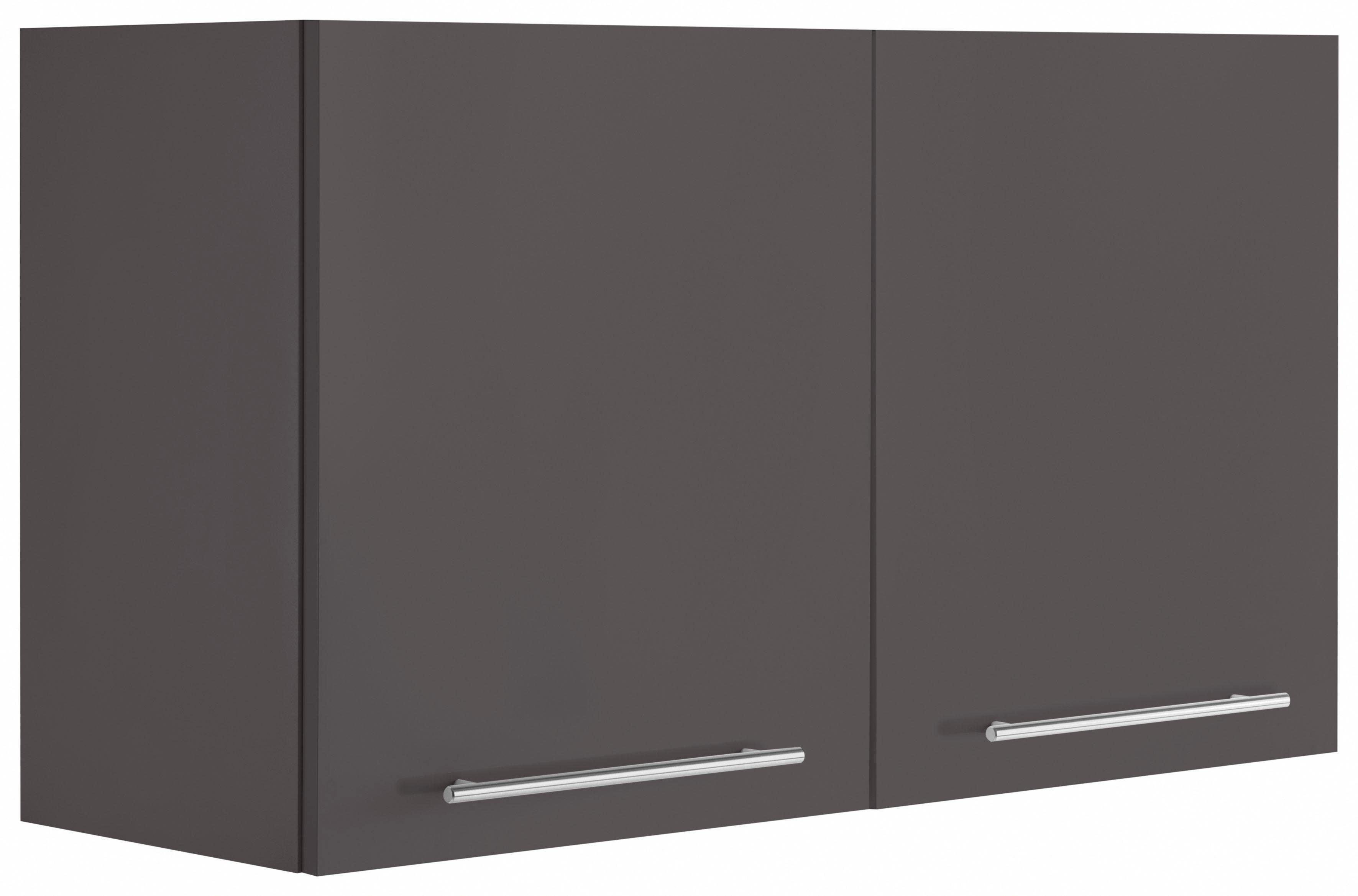WIHO-Küchen Hängeschrank Flexi2 Breite 100 cm   Küche und Esszimmer > Küchenschränke > Küchen-Hängeschränke   Grau   Melamin   Wiho Küchen