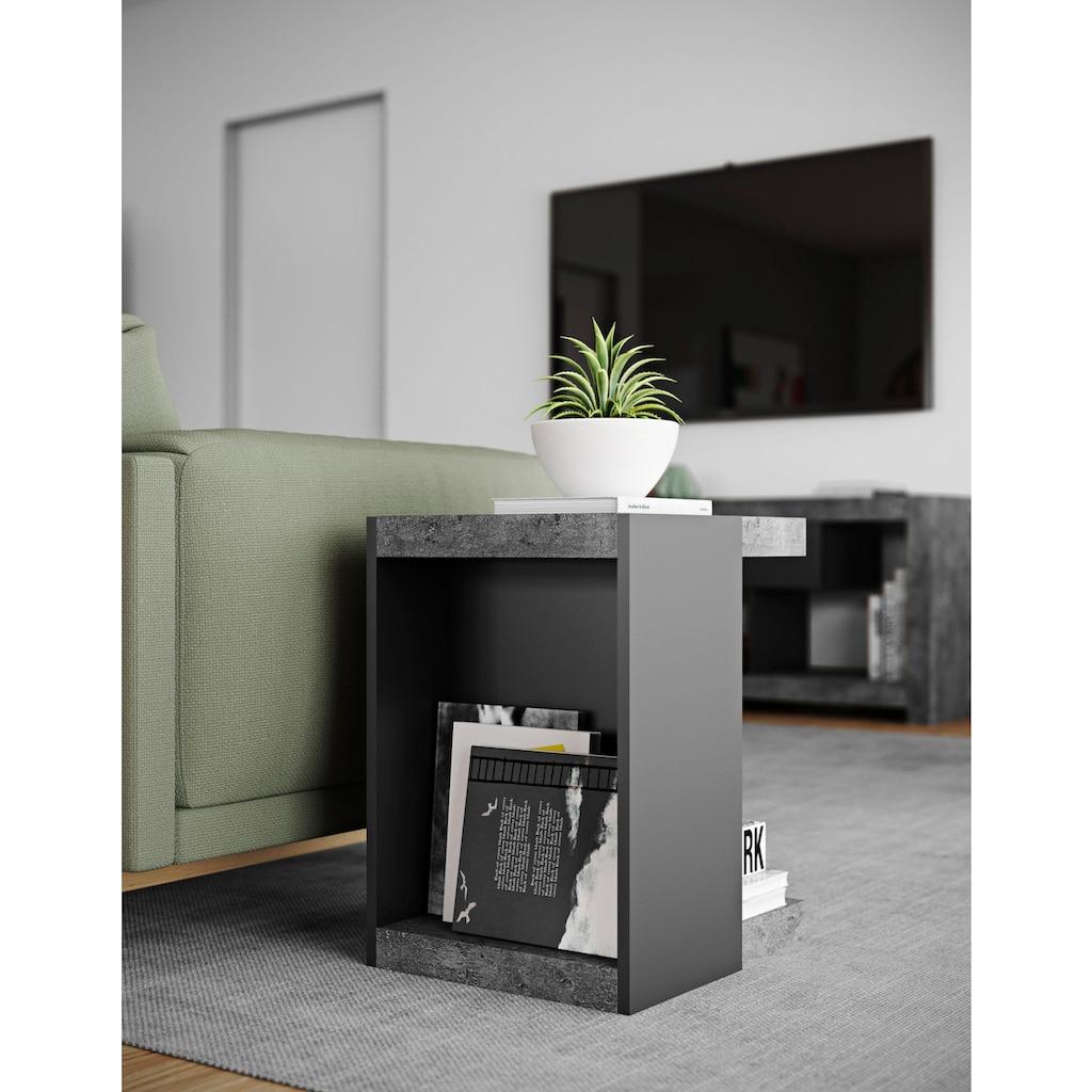 TemaHome Couchtisch »Klaus«, moderne Beton-Optik, Breite 38 cm