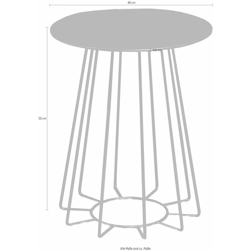 andas Beistelltisch »Carola«, mit einem schönen Metallgestell und einer bronzefarbenen Tischplatte