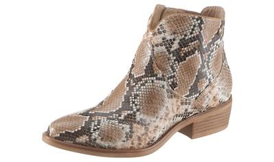 s.Oliver Cowboy Stiefelette, in angesagter Schlangenoptik kaufen