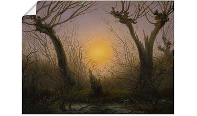 Artland Wandbild »Weidengebüsch bei tiefstehender Sonne.«, Sonnenaufgang & -untergang,... kaufen