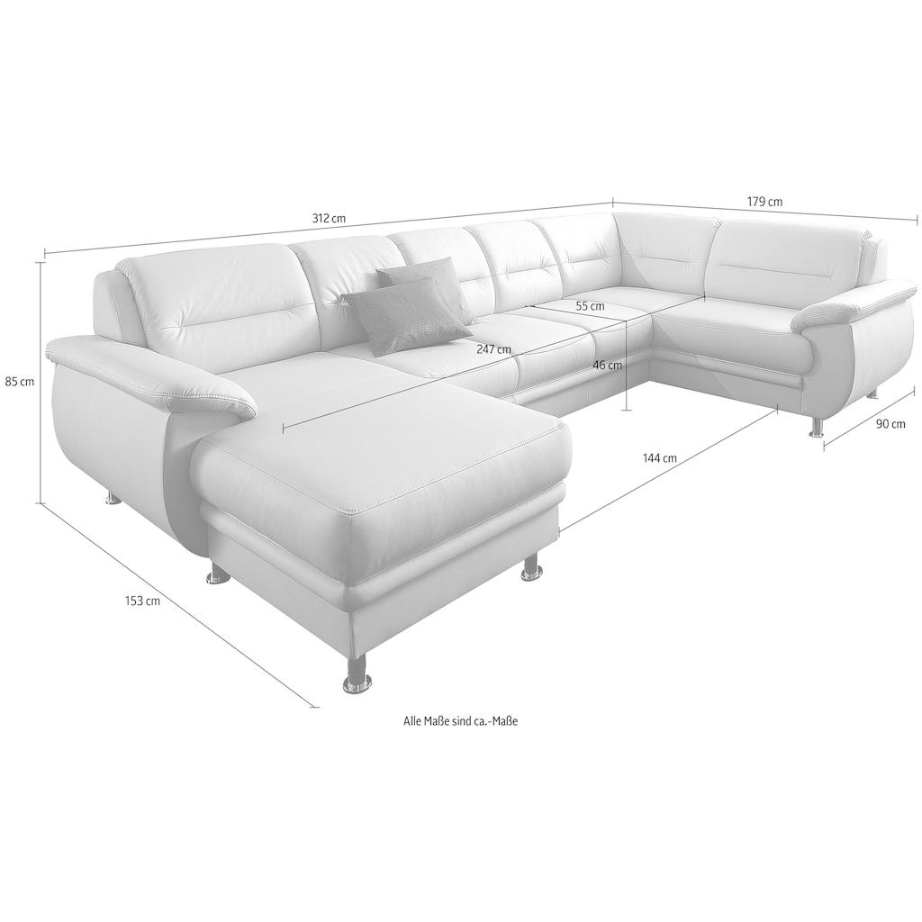 sit&more Wohnlandschaft, wahlweise mit Bettfunktion, frei im Raum stellbar
