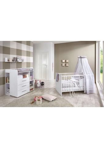 BMG Babymöbel-Set »Luis«, (Set, 5 St.), Bett + Wickelkommode + Unterstellregal (Set... kaufen