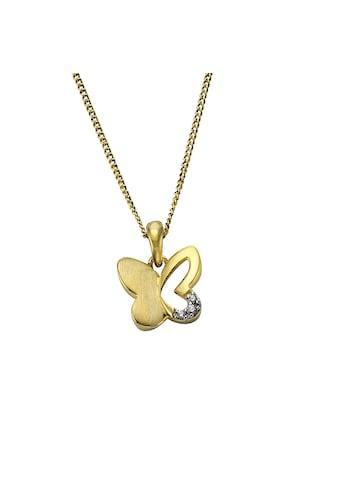 Zeeme Anhänger mit Kette »333/ -  Gold bicolor Schmetterling« kaufen