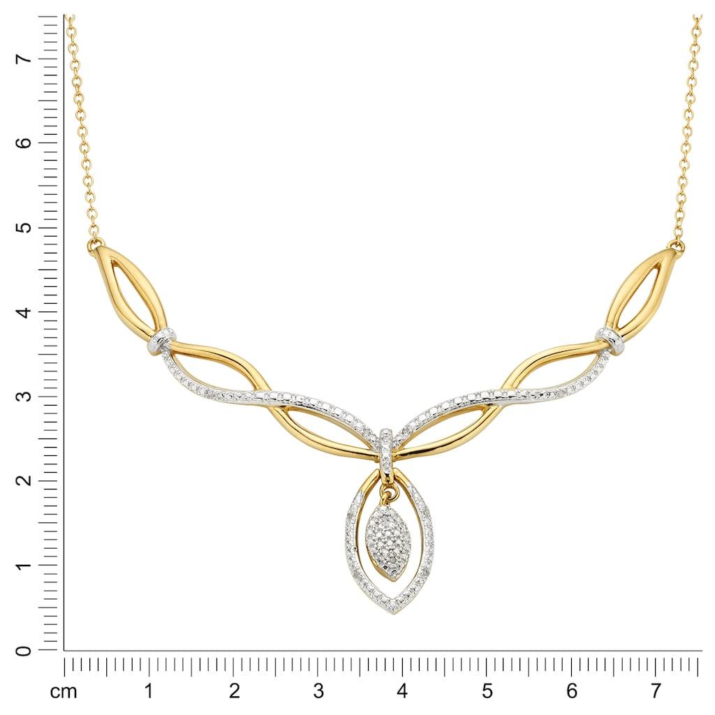 Diamonds by Ellen K. Collier »925/- Sterling Silber Diamant 0,06ct.«, Collier
