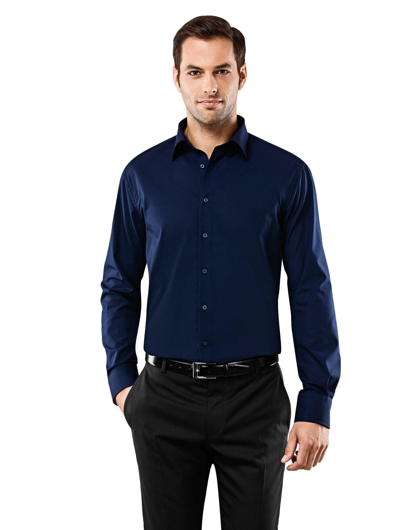 Vincenzo Boretti Hemd aus bügelfreiem Stoff | Bekleidung > Hemden > Sonstige Hemden | Blau | Baumwolle | VINCENZO BORETTI