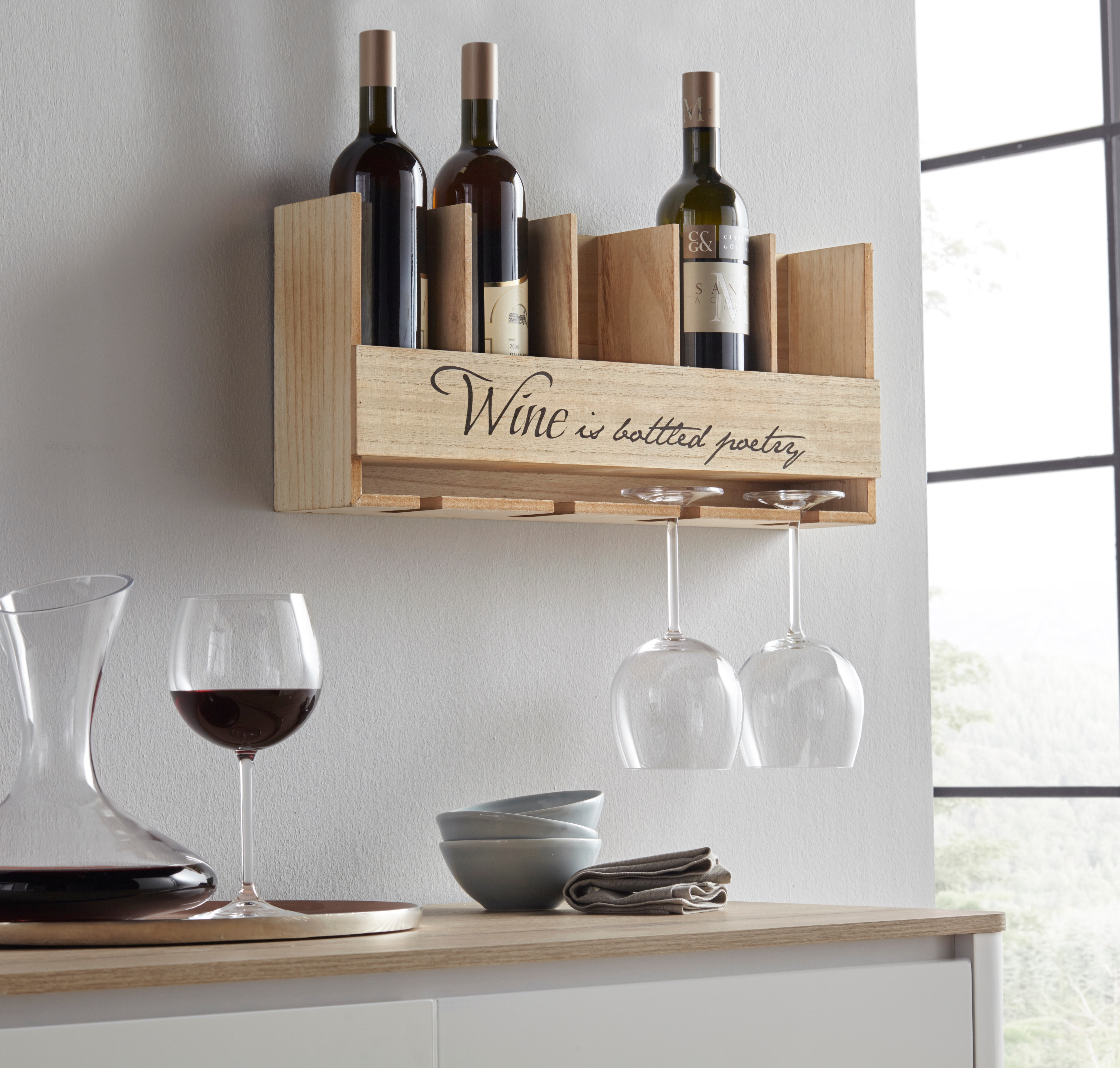 Home affaire Weinregal | Küche und Esszimmer > Küchenregale > Weinregale | home affaire