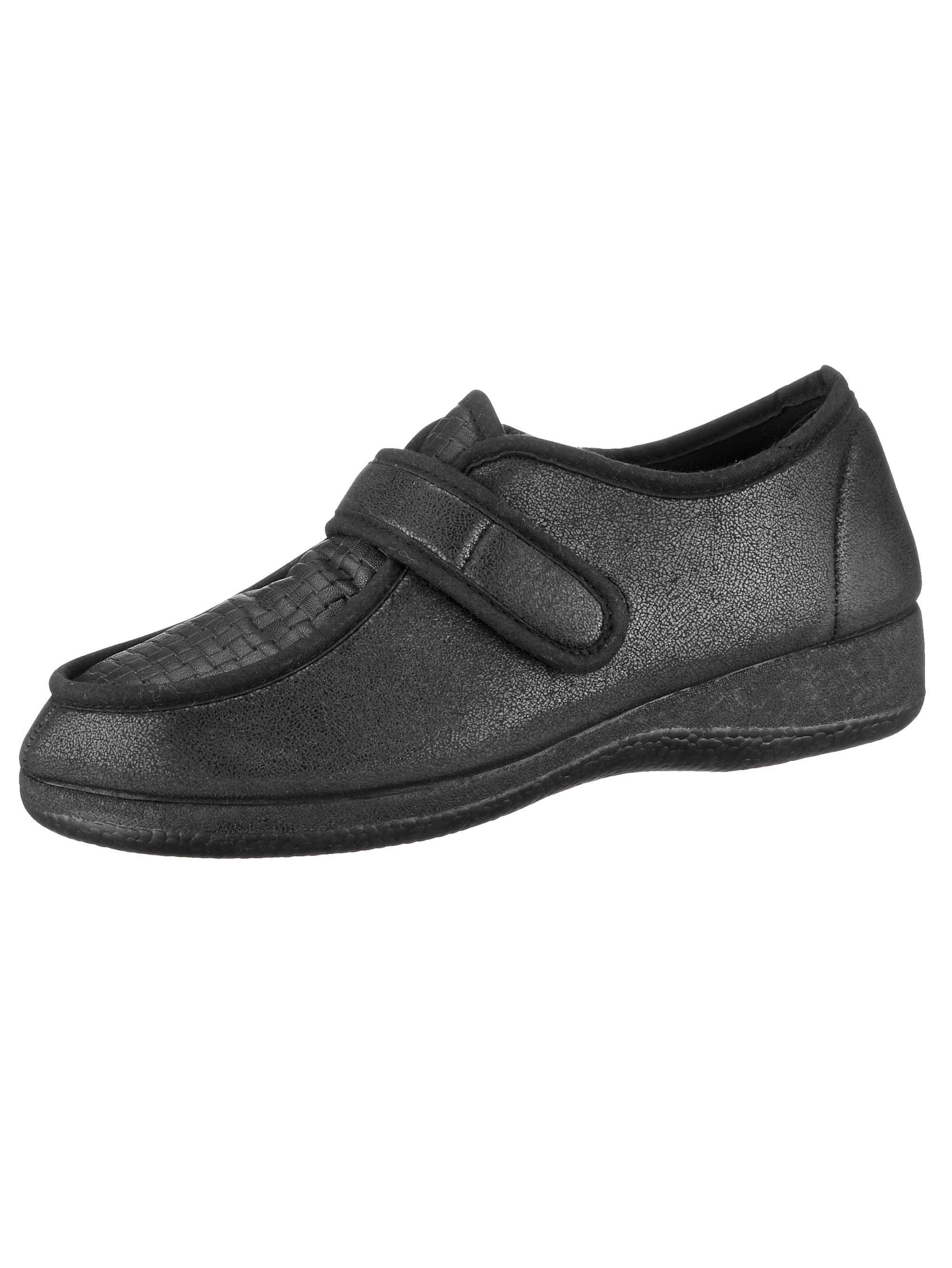 Naturläufer Klettslipper schwarz Damen Slipper Loafer Business-Schuhe für Sie Slipper/ Halbschuhe